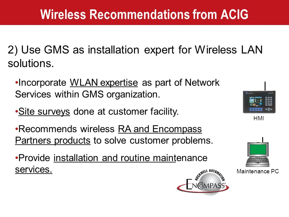 Wireless Recommendations from ACIG