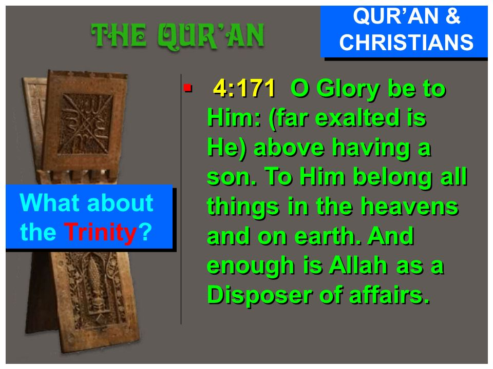 QUR'AN & CHRISTIANS