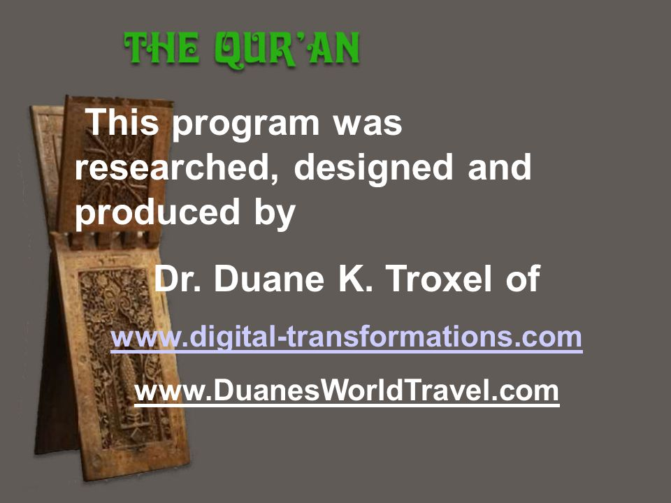 This program was researched, designed and produced by
