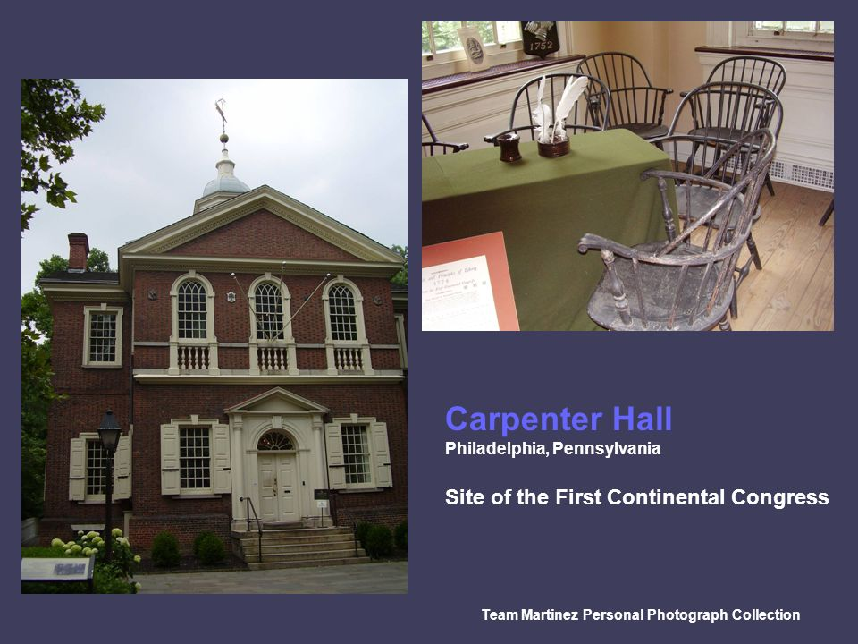 Carpenter Hall Site of the First Continental Congress