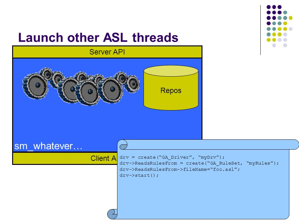 Launch other ASL threads