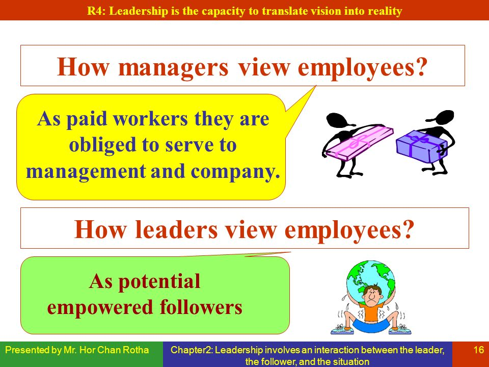 How managers view employees