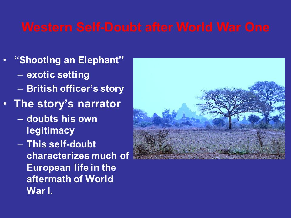 Western Self-Doubt after World War One