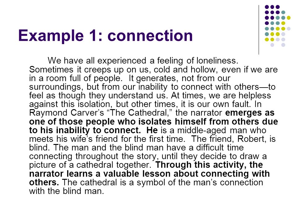 Example 1: connection