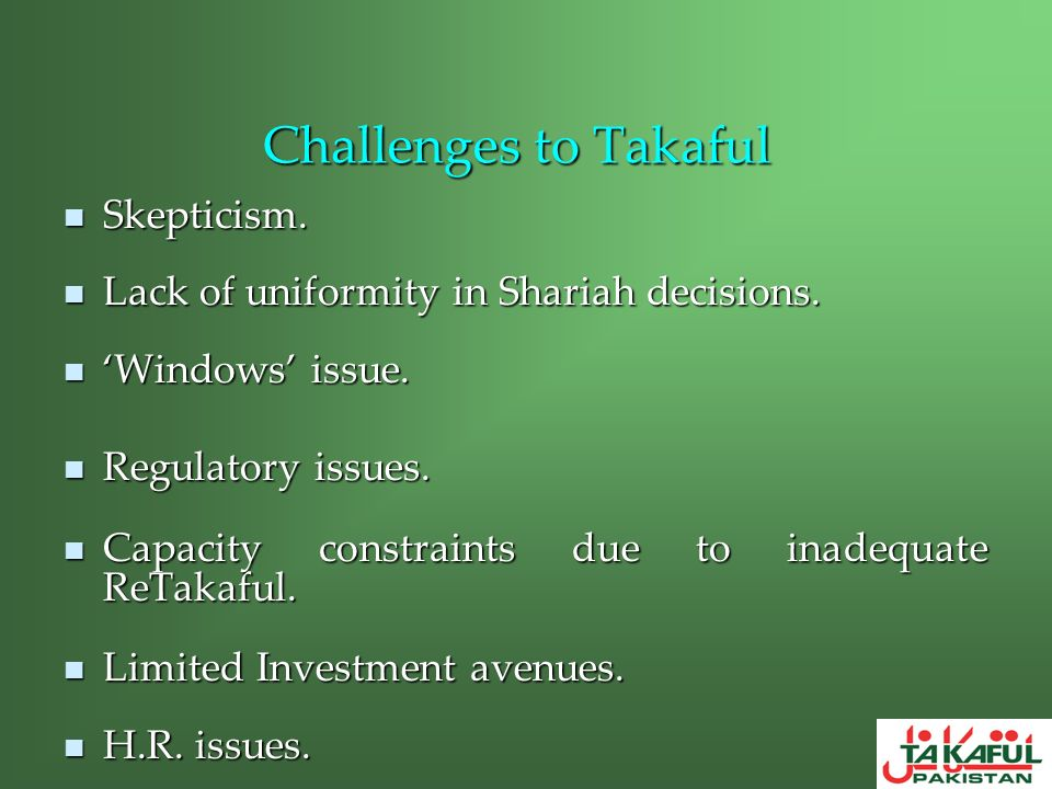 Challenges to Takaful Skepticism.