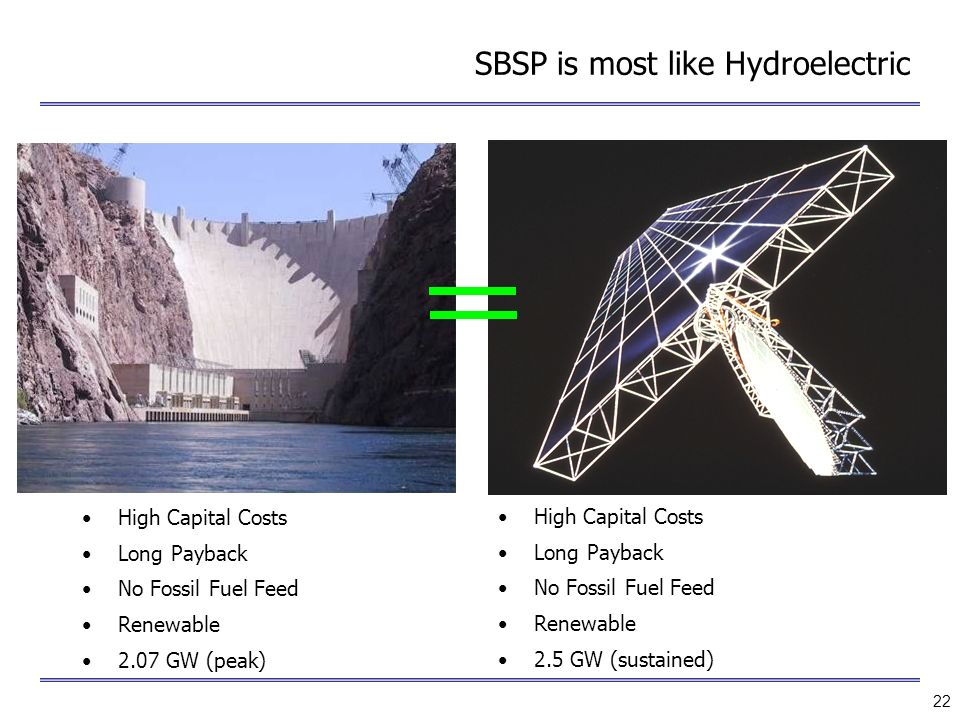SBSP is most like Hydroelectric