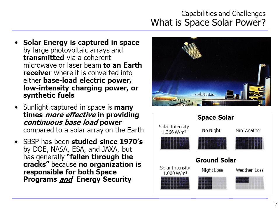 Capabilities and Challenges What is Space Solar Power