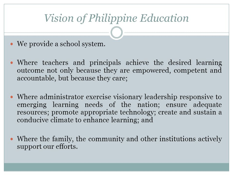 Vision of Philippine Education