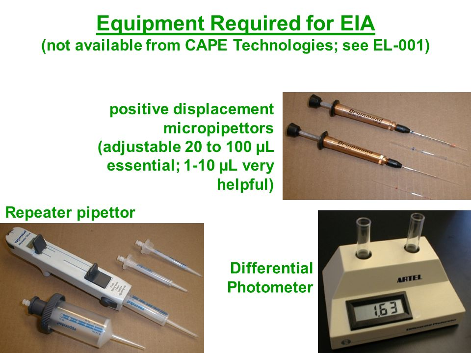 Equipment Required for EIA