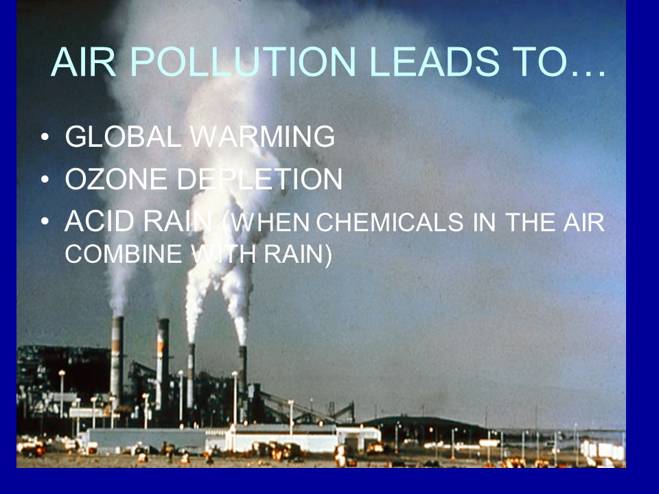 AIR POLLUTION LEADS TO…