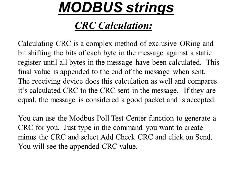 MODBUS PROTOCOL  - ppt video online download