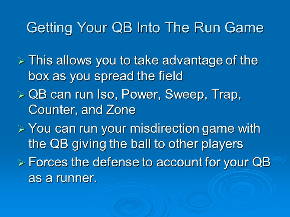 Getting Your QB Into The Run Game