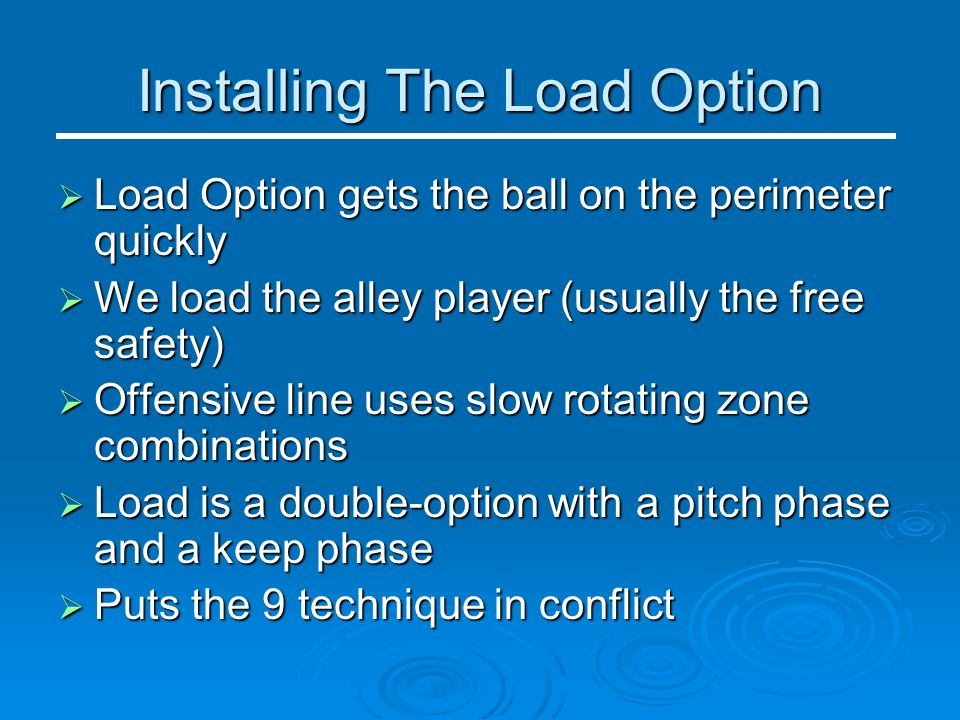 Installing The Load Option