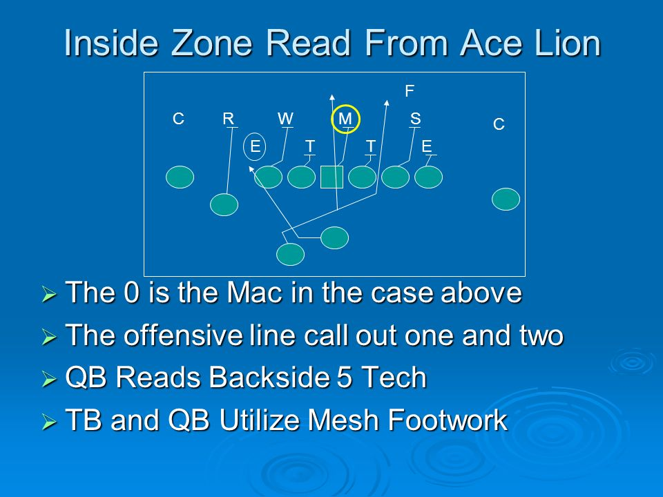 Inside Zone Read From Ace Lion