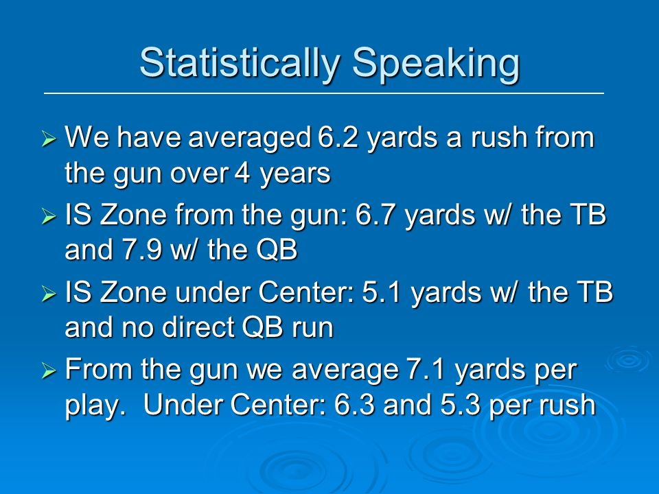 Statistically Speaking