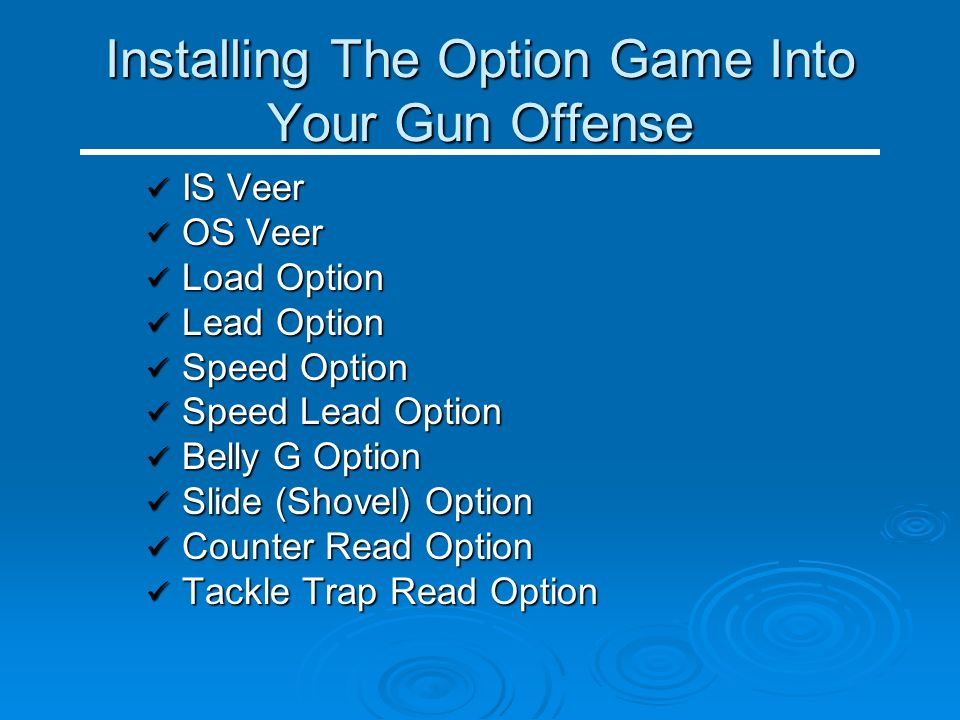 Installing The Option Game Into Your Gun Offense