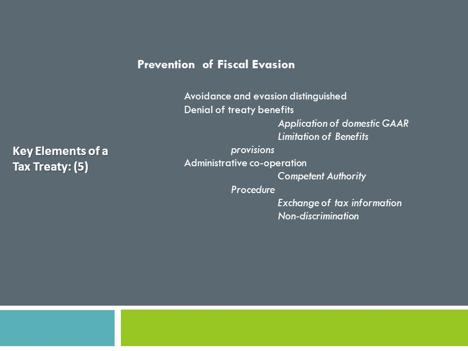 Prevention of Fiscal Evasion Avoidance and evasion distinguished