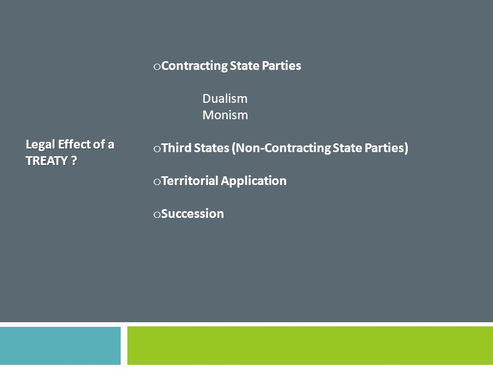 Contracting State Parties