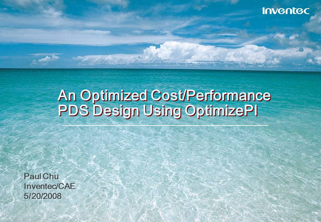An Optimized Cost/Performance PDS Design Using OptimizePI