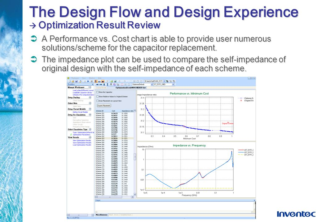 The Design Flow and Design Experience  Optimization Result Review