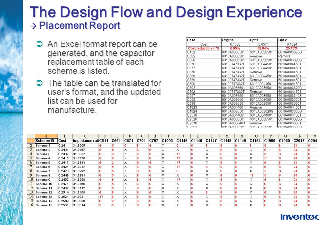 The Design Flow and Design Experience  Placement Report