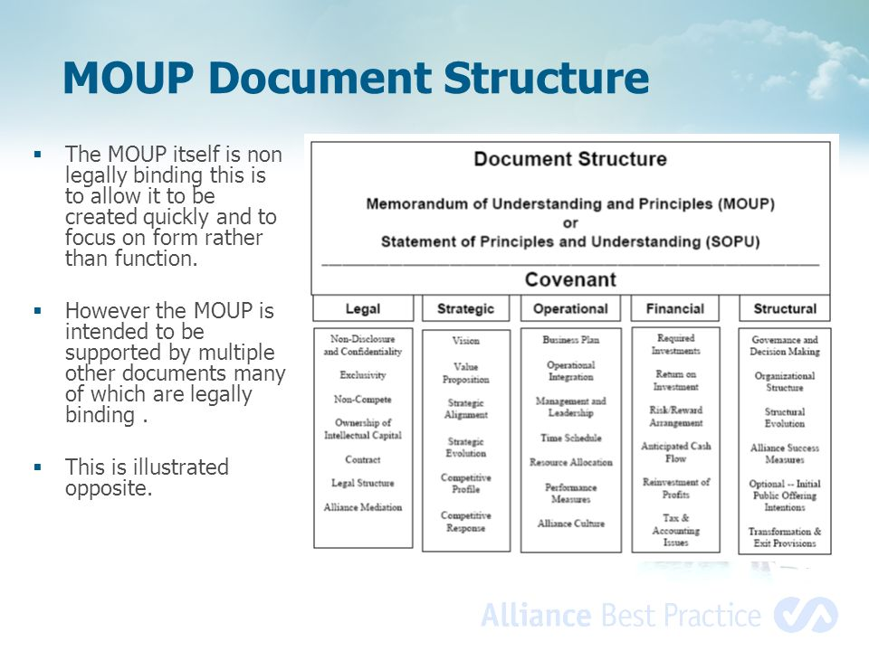 MOUP Document Structure