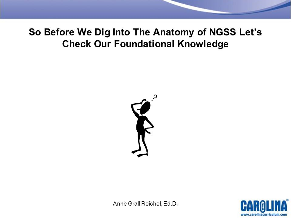 So Before We Dig Into The Anatomy of NGSS Let's Check Our Foundational Knowledge