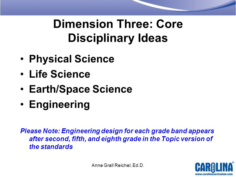 Dimension Three: Core Disciplinary Ideas