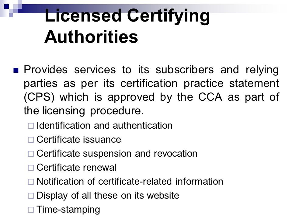Licensed Certifying Authorities