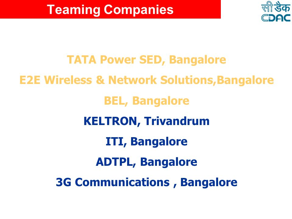 Teaming Companies TATA Power SED, Bangalore