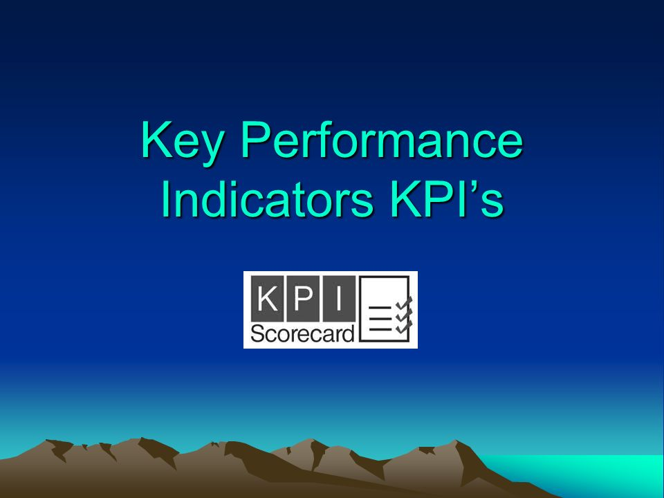 Key Performance Indicators KPI's