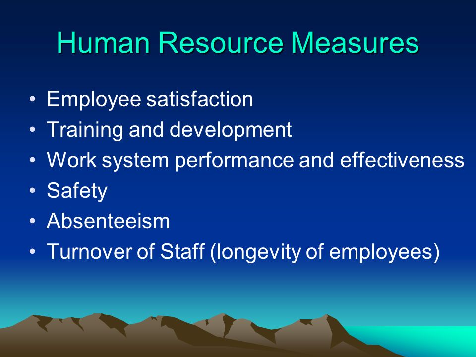 Human Resource Measures