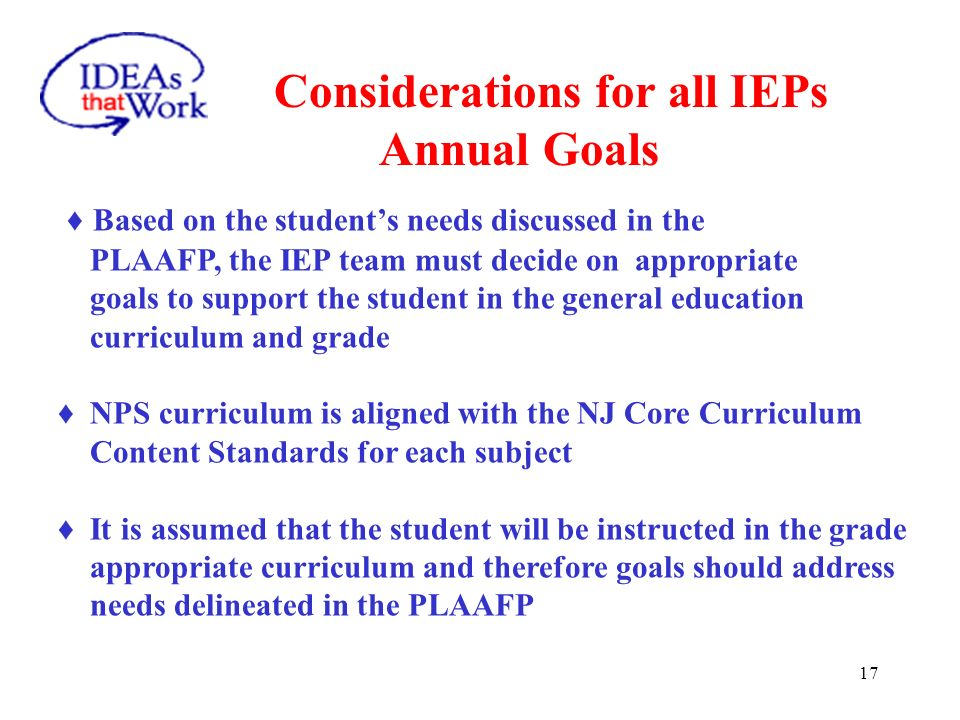 Considerations for all IEPS LRE Rationale