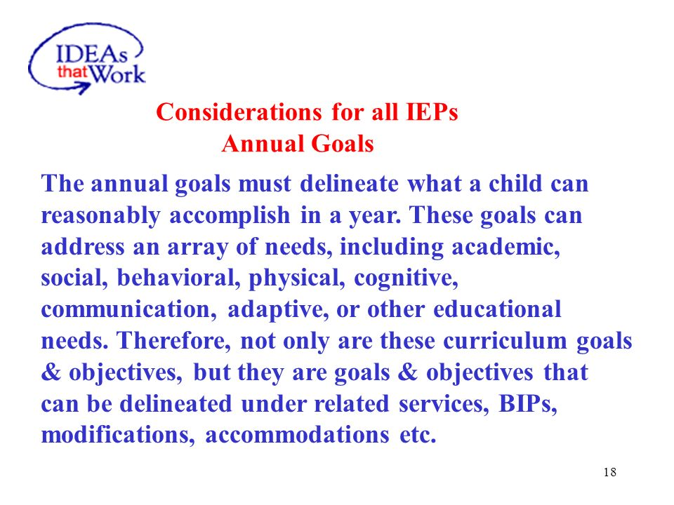 Considerations for all IEPs Related Services