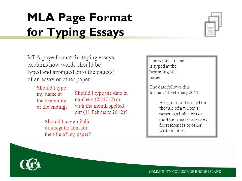 mla format my paper