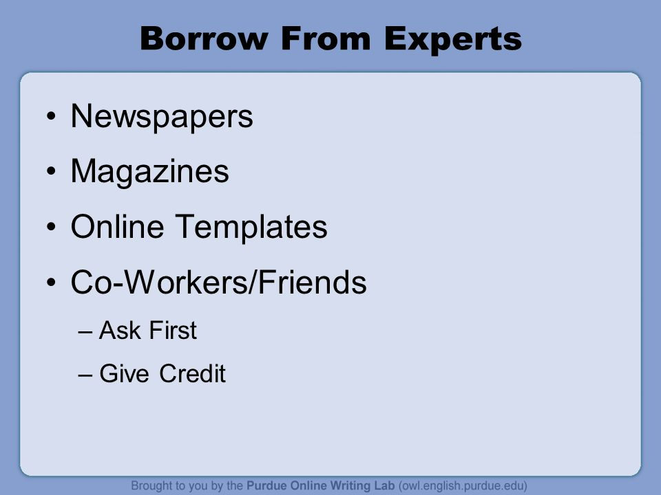 Borrow From Experts Newspapers Magazines Online Templates