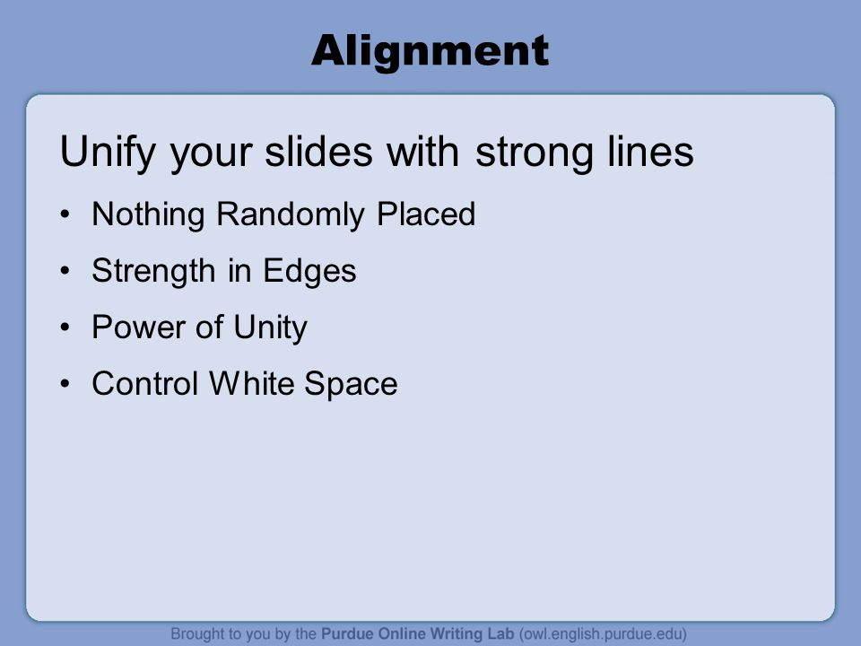 Unify your slides with strong lines