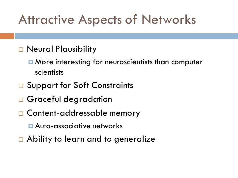 Attractive Aspects of Networks