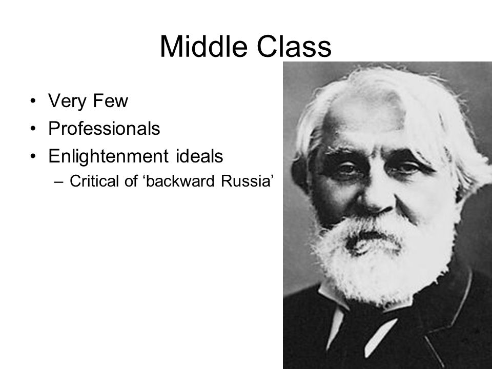 Middle Class Very Few Professionals Enlightenment ideals
