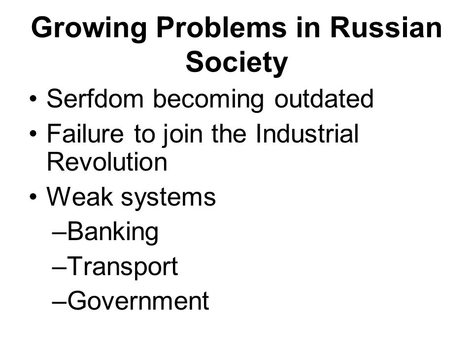 Growing Problems in Russian Society