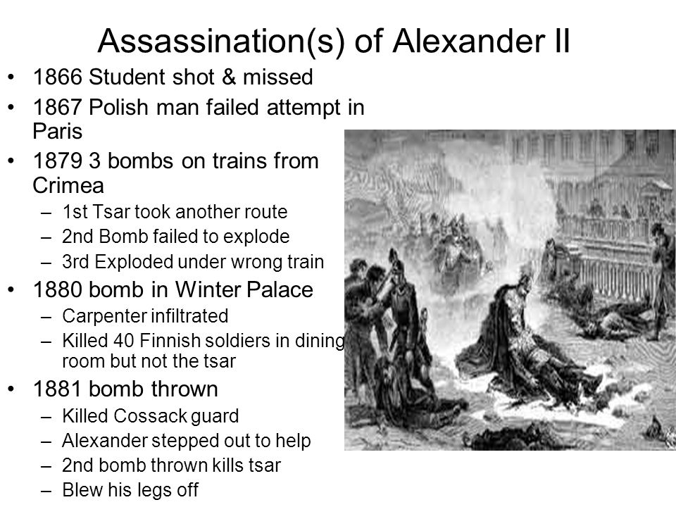 Assassination(s) of Alexander II