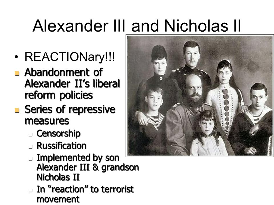 Alexander III and Nicholas II