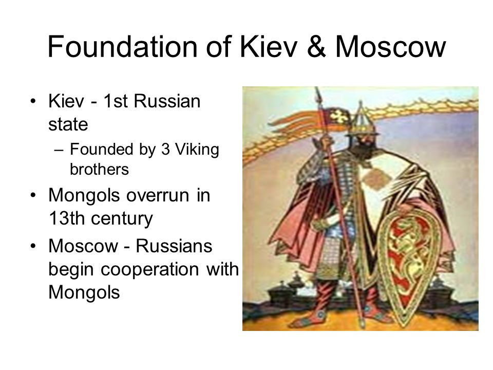 Foundation of Kiev & Moscow