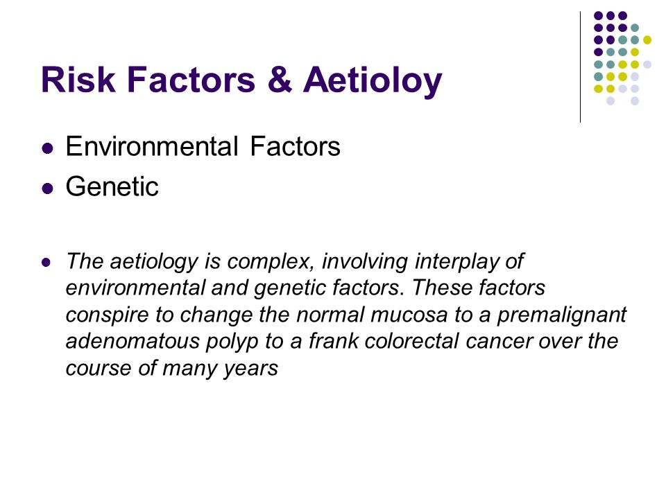 Risk Factors & Aetioloy