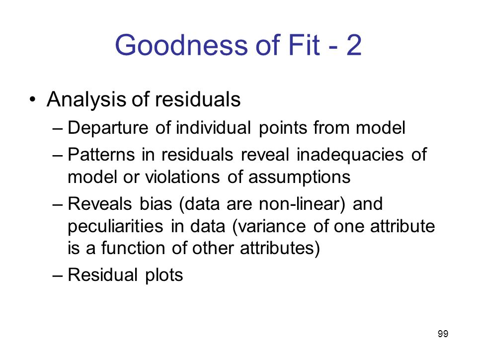 Goodness of Fit - 2 Analysis of residuals