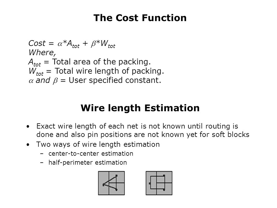 Wire length Estimation