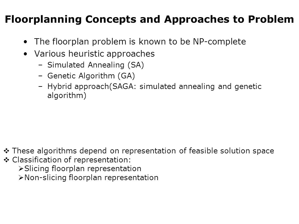 Floorplanning Concepts and Approaches to Problem