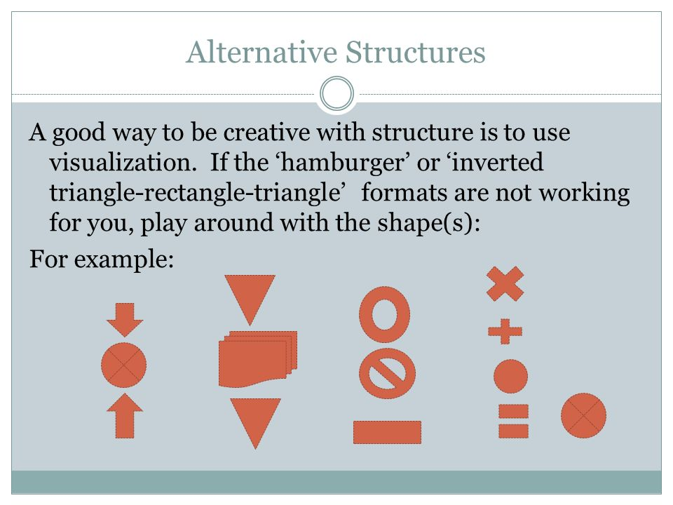 Alternative Structures