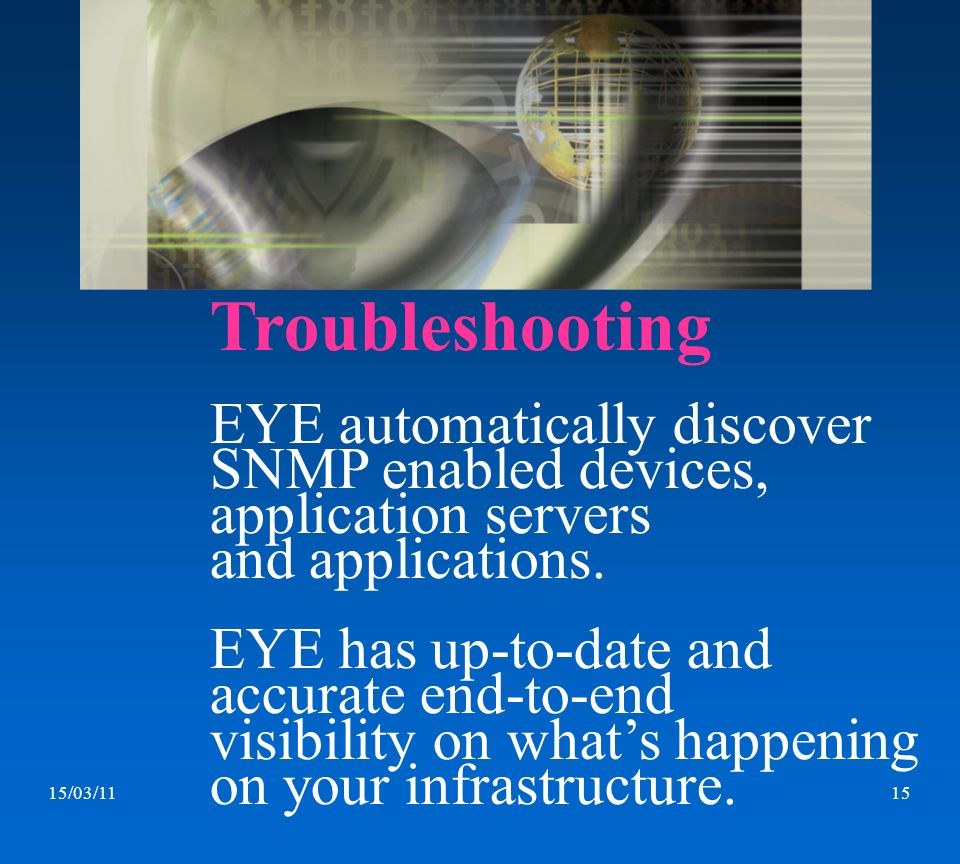 Troubleshooting EYE automatically discover