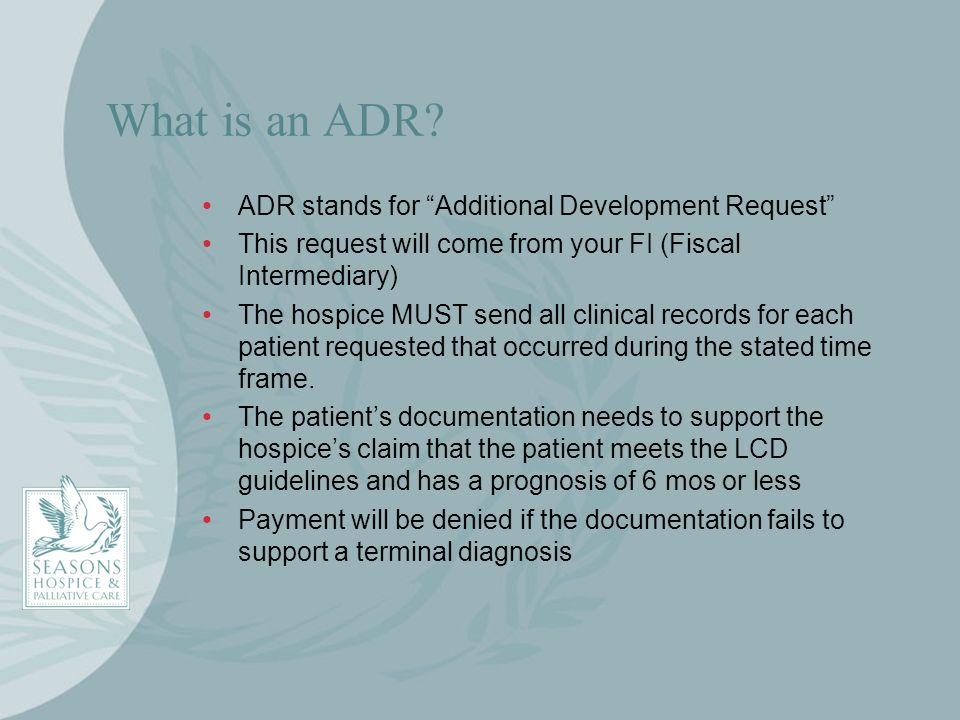 What is an ADR ADR stands for Additional Development Request